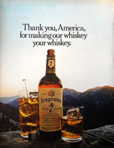 Seagram's Seven Crown Whiskey, 70's Full Page Color Illustration, 10 1/2