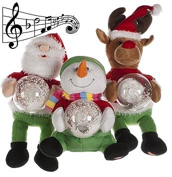 Amazon.de: 28 cm Weihnachten Schneemann, Rentier oder Weihnachtsmann ...