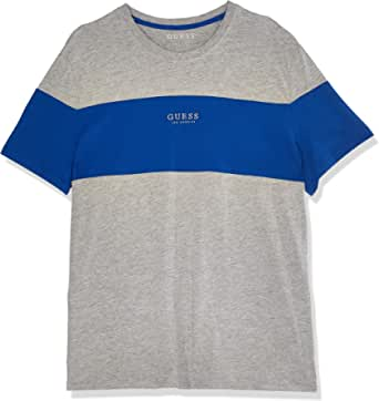 GUESS Men's Crew Neck Small Sleeve On T-Shirt