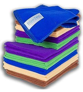 BlizeTec 2 Stylist Microfiber Cleaning Car Scrub Pad and Towel Car Wash Sponge