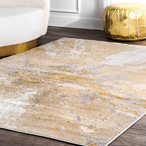 nuLOOM Cyn Abstract Area Rug, 5 x 8 , Gold