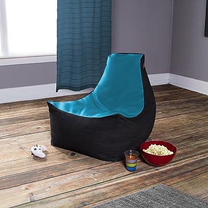 Jaxx Pixel Gamer Chair - Game Room / Home Theater Bean Bag Chair Turquoise & Amazon.com: Jaxx Pixel Gamer Chair - Game Room / Home Theater Bean ...