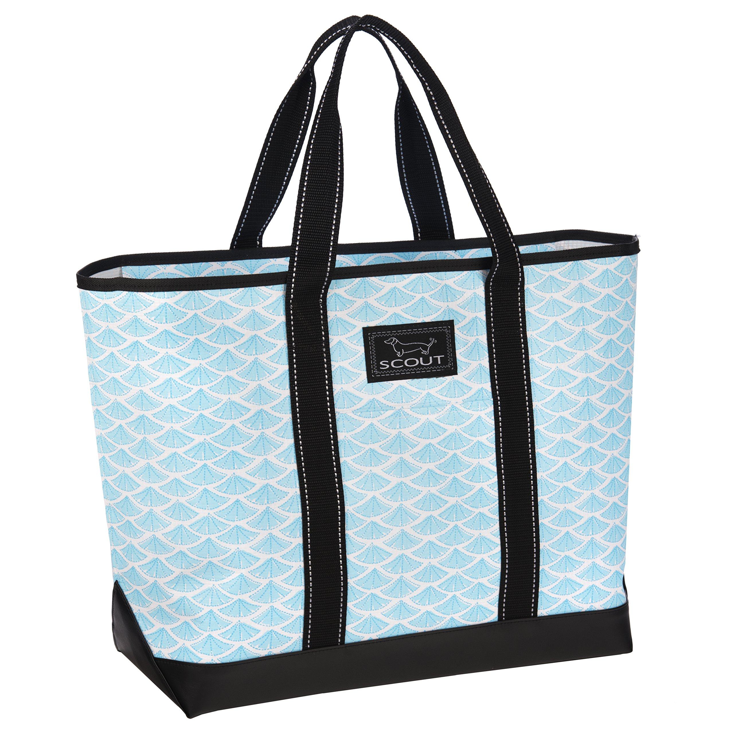SCOUT Beach Bum Large Tote Bag, For the Beach or Pool, Slim Profile, Folds Flat, Sand and Water Resistant, Zips Closed, Swimfan
