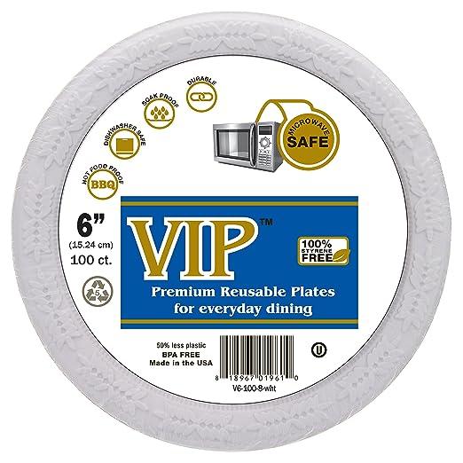 Placas de VIP (TM) - 6 (platos desechables de plástico placas de ...