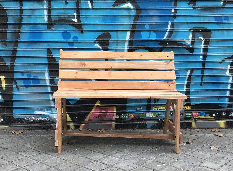 Banco de palets reciclado, de madera, para jardín o interior, reciclado.: Amazon.es: Handmade