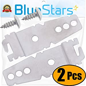 Ultra Durable 8269145 Mounting Bracket Replacement part by Blue Stars - Exact Fit for Kenmore Whirlpool KitchenAid Dishwasher - Replaces 8269145 WP8269145VP - PACK OF 2