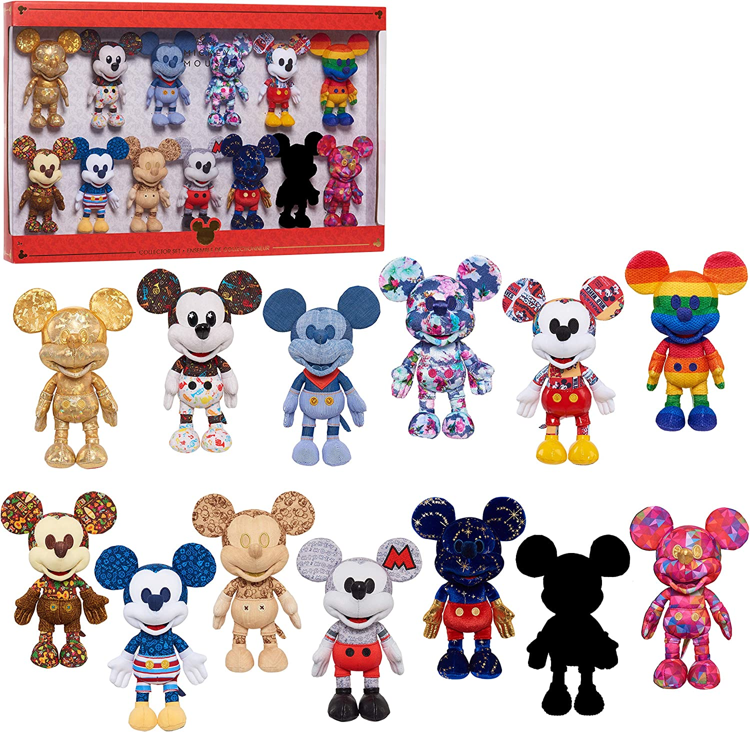 Disney Year of the Mouse Small Plush - 13 pk; Amazon Exclusive