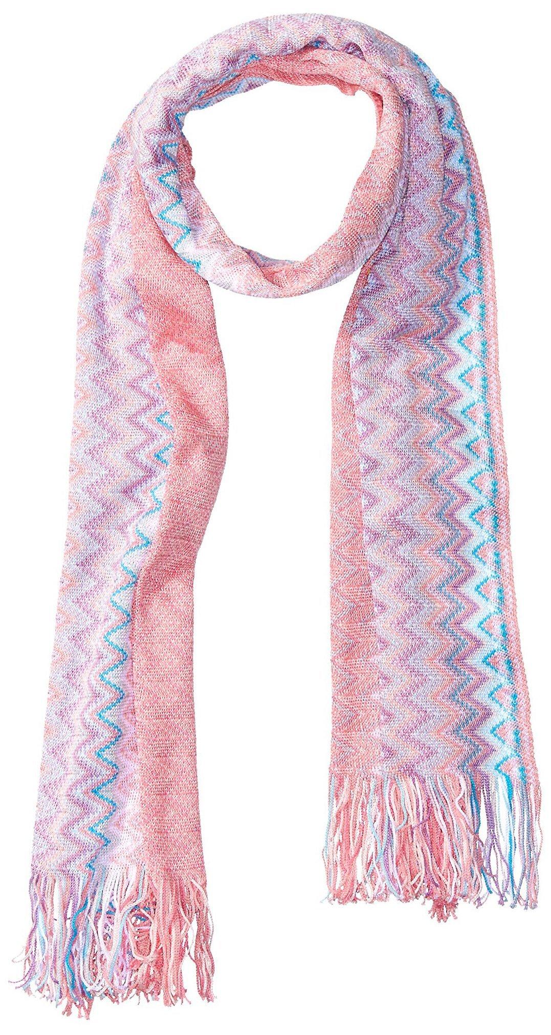 MISSONI Women's Zig Zag Scarf, Pink