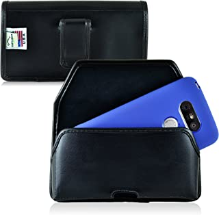 product image for Turtleback Holster Made for LG G5 Black Belt Case Leather Pouch with Executive Belt Clip Horizontal Made in USA