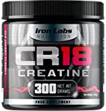 CR18 CREATINE - The Creatine Monohydrate Drink | 6,000mg Creatine Monohydrate per Serving | Red Cherry Flavour | Includes Alpha Lipoic Acid | 300 grams