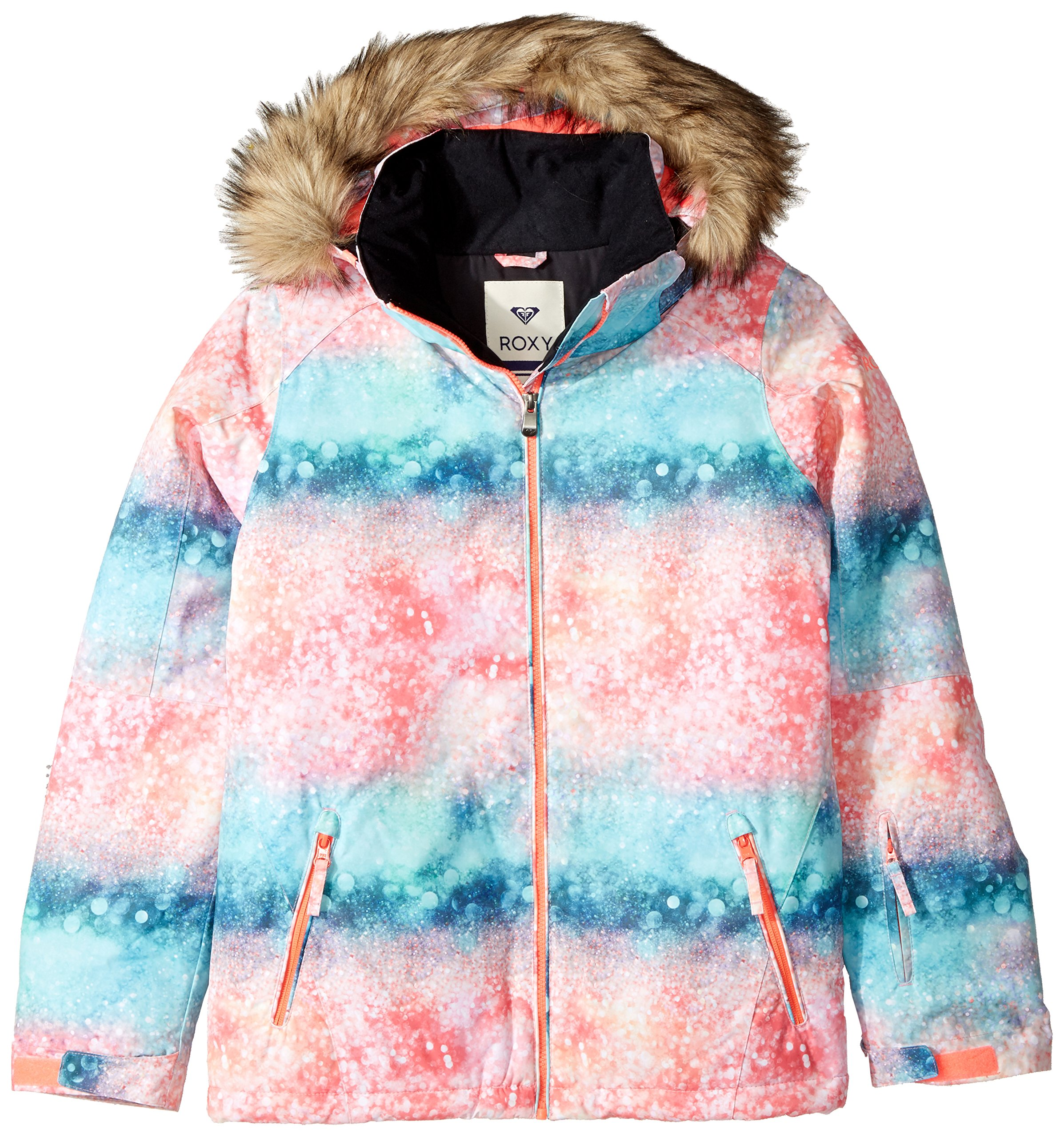 Roxy Big Girls' American Pie Snow Jacket, Neon Grapefruit_Solargradient, 16/XXL by Roxy