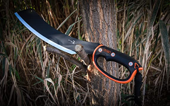 Elk Ridge Bushman/'s Compact Pal Machete Messer 3Cr13 Stahl Nylonscheide 37,5 cm