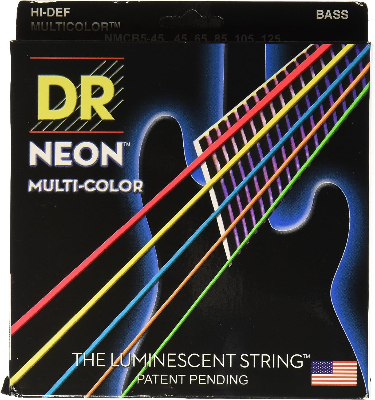 Dr cuerdas nmcb5–45DR NEON 5Bass–Cuerdas para guitarra, tamaño mediano, multicolor