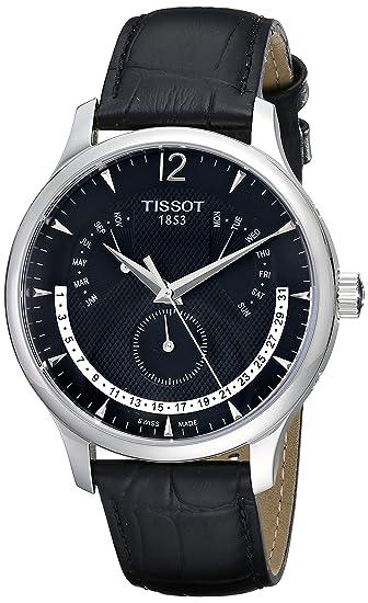 Tissot T0636371605700 - Reloj analógico de caballero de cuarzo con correa de piel negra: Tissot: Amazon.es: Relojes
