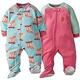 Gerber Baby Girls' 2-Pack Blanket Sleeper, Fox, 6-9
