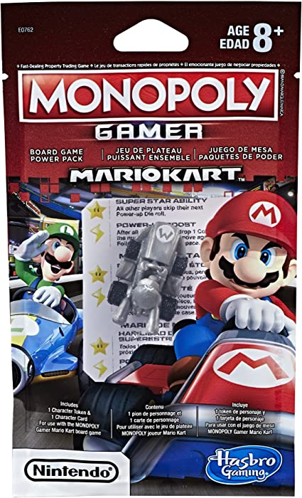 NEW Monopoly Gamer Mario Kart Power Pack Figures set yoshi bowser rosalina