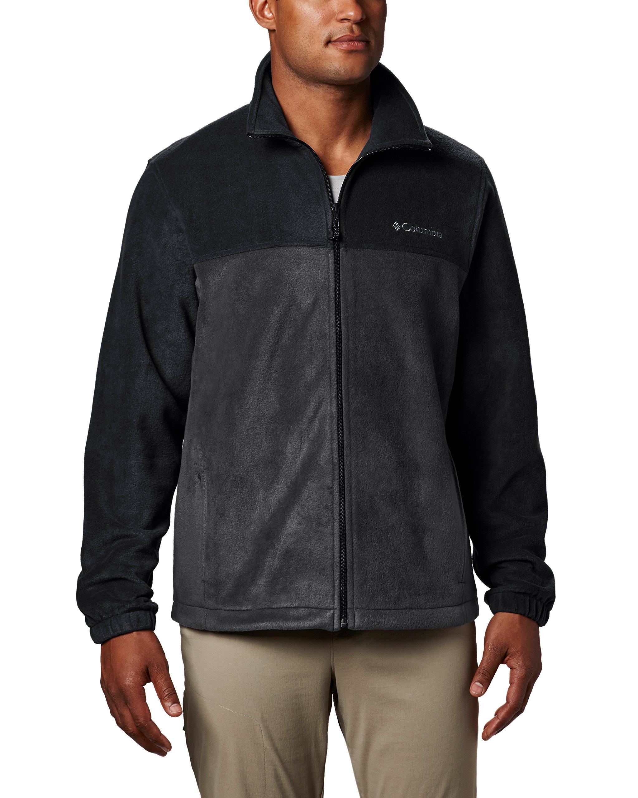 Columbia Men's Steens Mountain Full Zip 2.0 Soft Fleece Jacket, Black/Grill, XX-Large