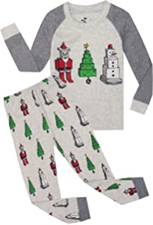 a53516b0ae Boys Christmas Pajamas Children Santa Claus PJs Gift Toddler 2 Pieces Pants Set  Sleepwear