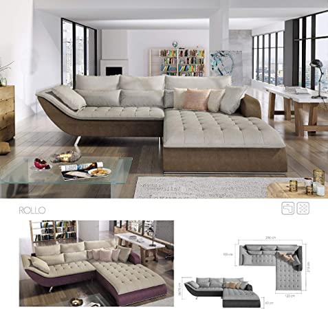 BMF Rollo Chaise Lounge RIGHT Facing Corner Sofa Any Colour