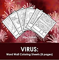 Virus Word Wall Coloring Sheets (8 pages)