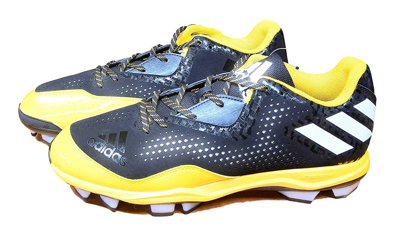 adidas メンズ B01NA0NQQABlack/White/Collegiate Gold 13 D(M) US