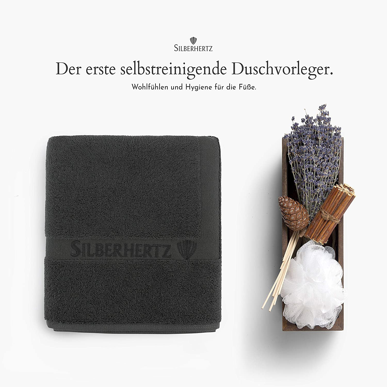 Silberhertz Duschvorleger 50 X 80 Cm 100 Baumwolle Frottee Bordure