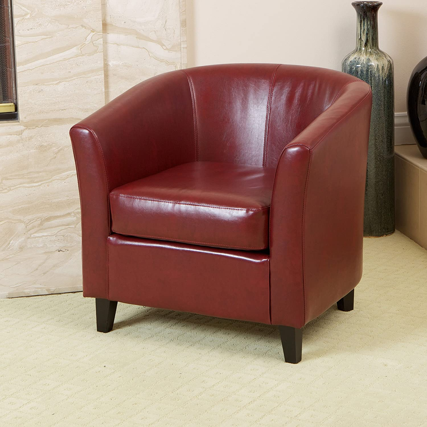 Amazon Best Selling Preston Club Chair Brown Kitchen & Dining
