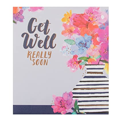 Amazoncom Hallmark Get Well Soon Card Take Care Medium Kitchen