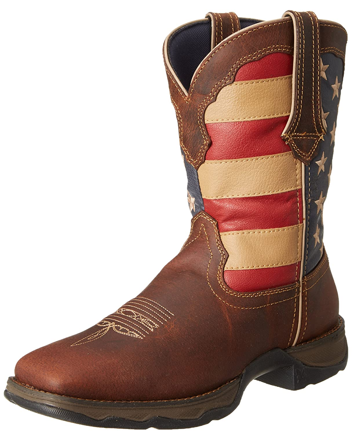 Durango Lady Rebel 10 Inch Flag RD4414 Western Boot B006MX5CVQ 9.5 B(M) US|Brown/Union Flag