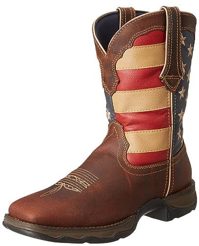 a44957d73ab Amazon.com | Durango Lady Rebel 10 Inch Flag RD4414 Western Boot ...