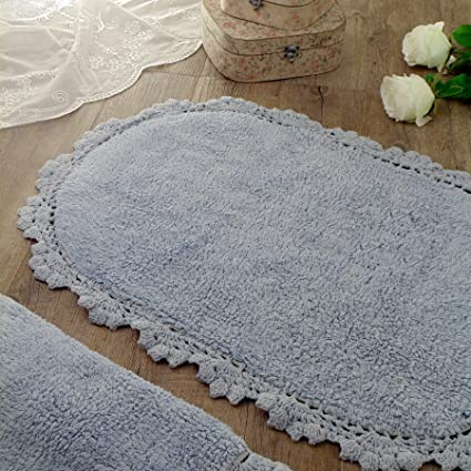 Outstanding Oval Bath Mat Bath Rug Vintage Shabby Chic Farmhouse Home Interior And Landscaping Synyenasavecom