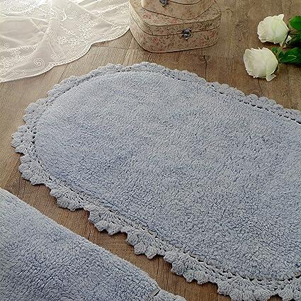 Remarkable Oval Bath Mat Bath Rug Vintage Shabby Chic Farmhouse Home Interior And Landscaping Fragforummapetitesourisinfo