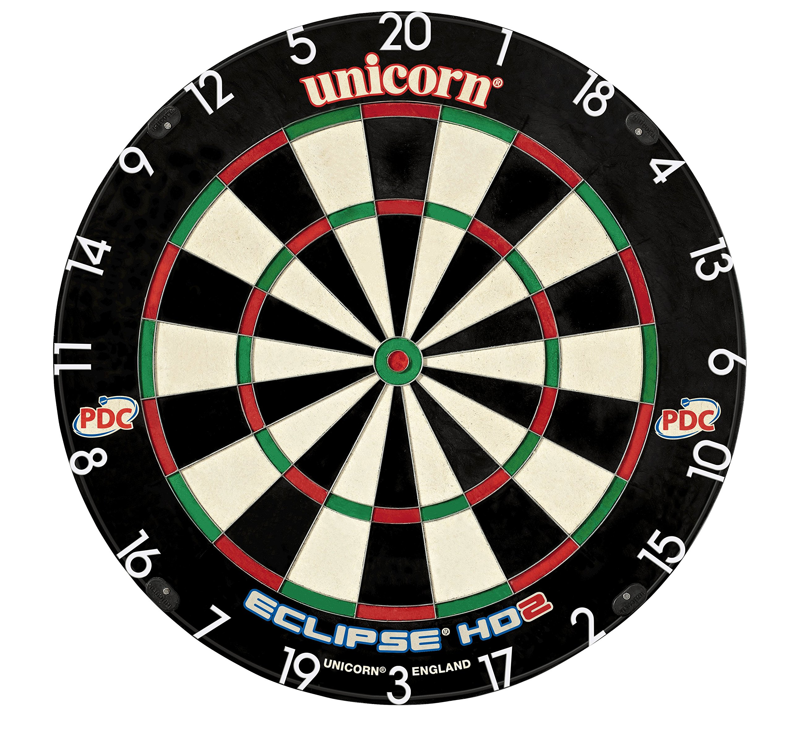 Unicorn Eclipse HD2 High Definition Professional Bristle Dartboard with Increased Playing Area and Super Thin Bullseye by Unicorn
