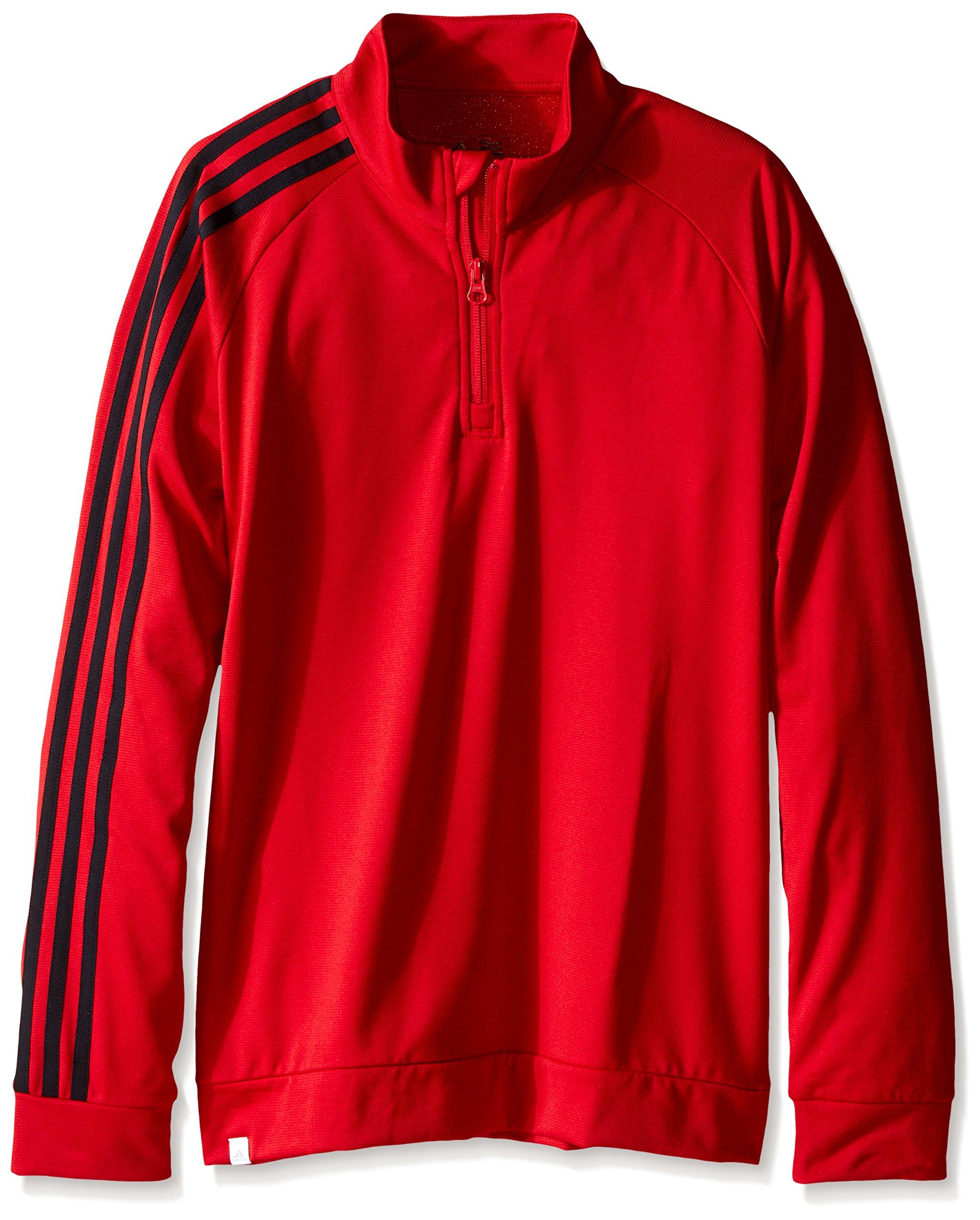 adidas Golf Boys B 3-Stripes Jacket, Power RED, X-Large by adidas