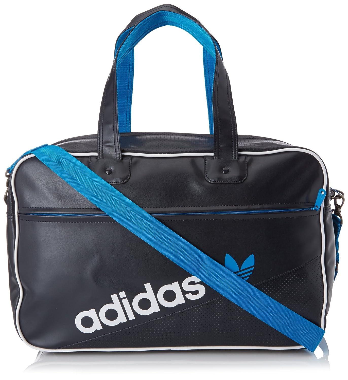 Adidas Holdball Perforated F79530 - Bolsa de deporte (tamaño 49 x 17 x 31 cm), color negro/blanco/azul