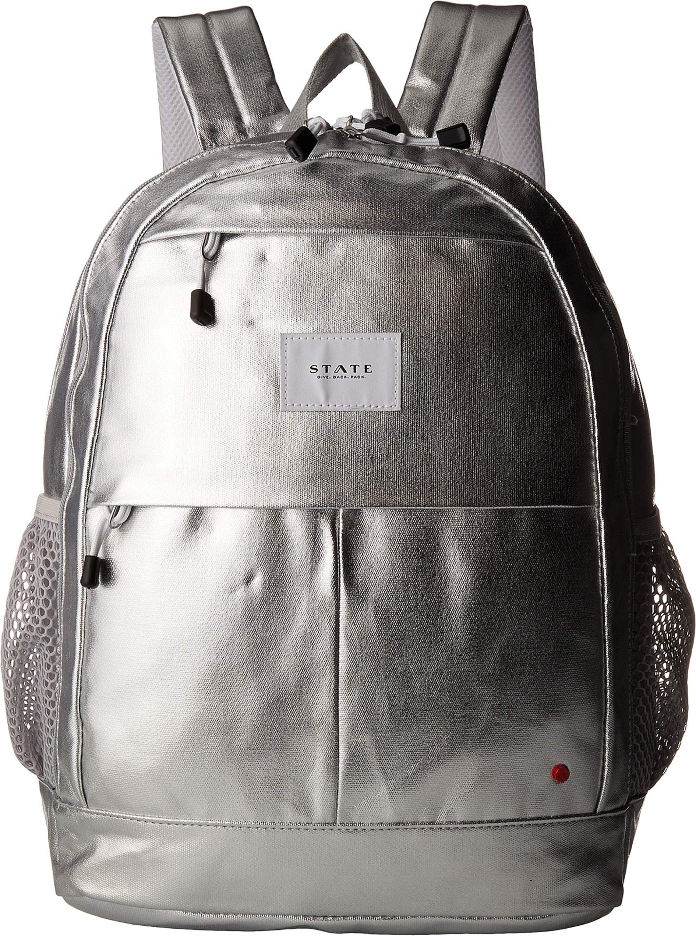 STATE Bags Women's Metallic Leny Backpack Silver One Size by STATE Bags