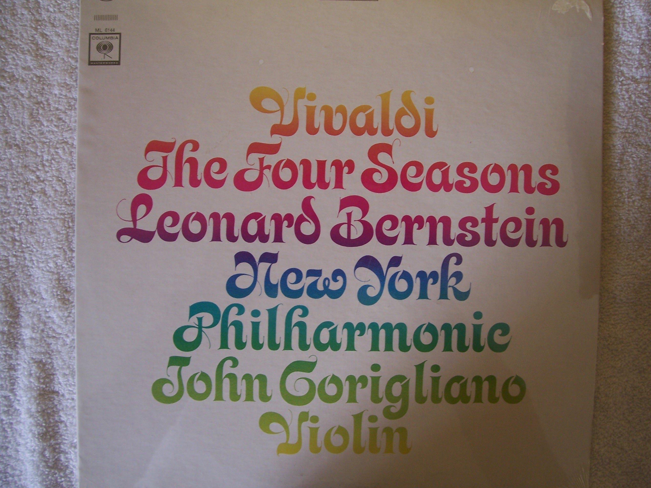 Vivaldi The Four Season - Leonard Bernstein, New York Philharmonic , John Corigliano, Violin by Columbia Masterworks Mono