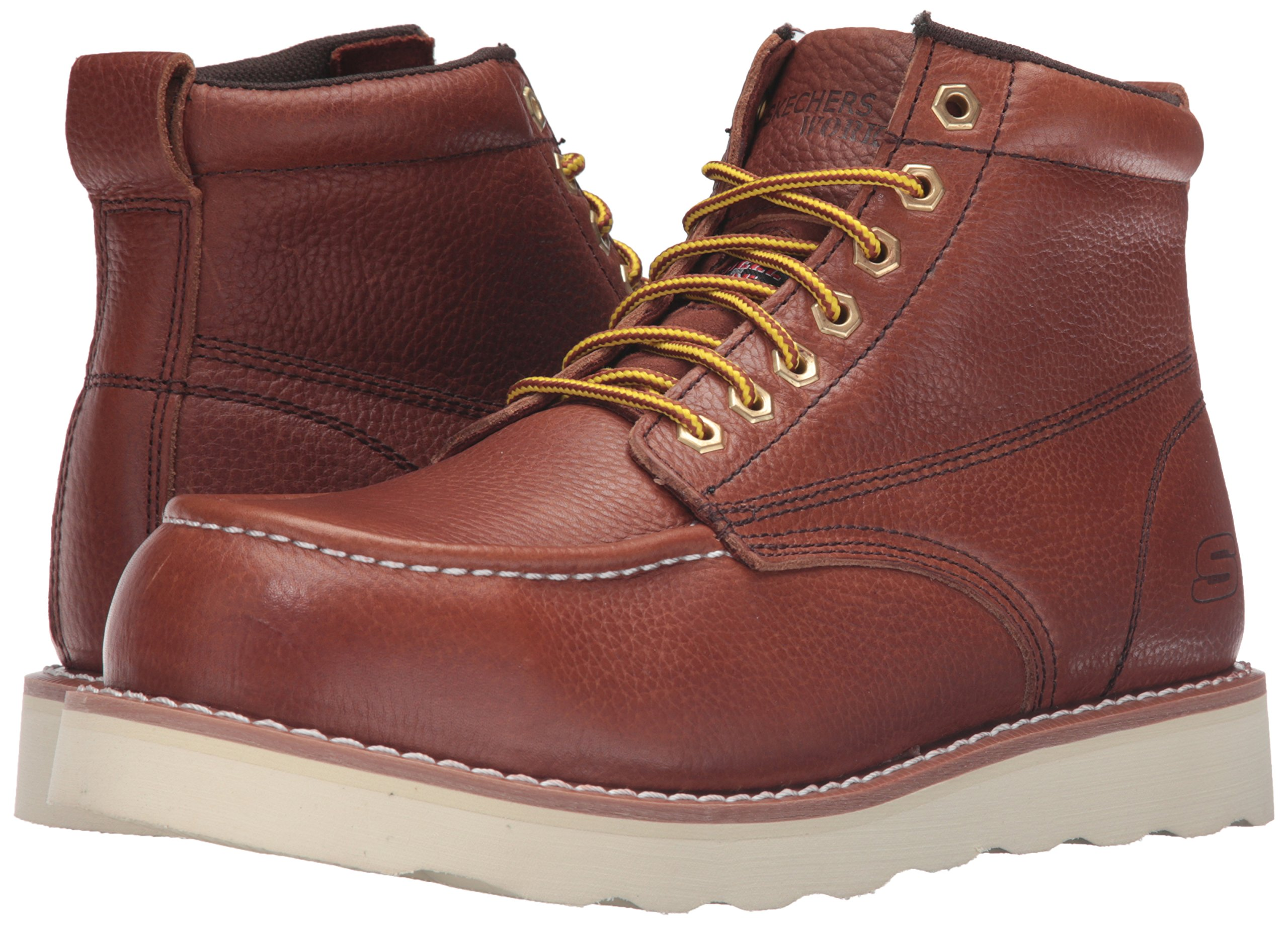 Skechers for Work Men's Pettus Grafford Work Boot,Red Brown,10.5 M US by Skechers (Image #6)