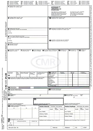 250 X Cmr Consignment Notes Of International 4 Teilig For Laser