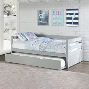 Hillsdale Furniture Caspian, Gray Daybed with Trundle,
