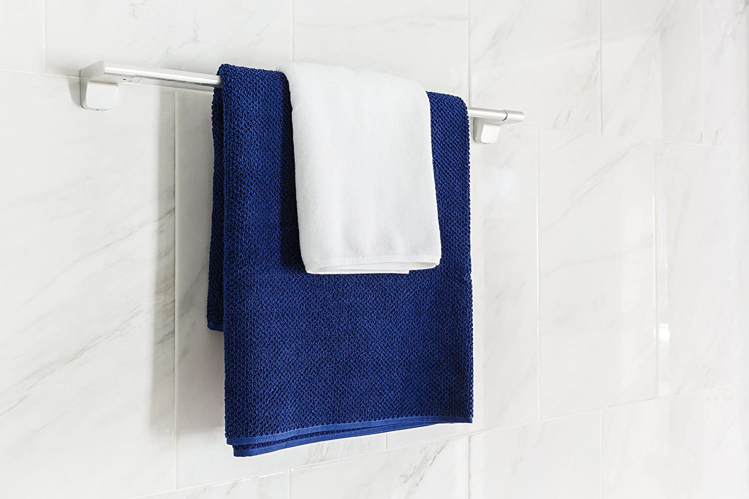 Amazon.com: Bath Towels Blue 4-Piece Set - 100% Cotton Luxury Quick Dry Turkish Towels for Bathroom, Guests, Hot Tub - Hotel Quality Collection Bath Towels, ...