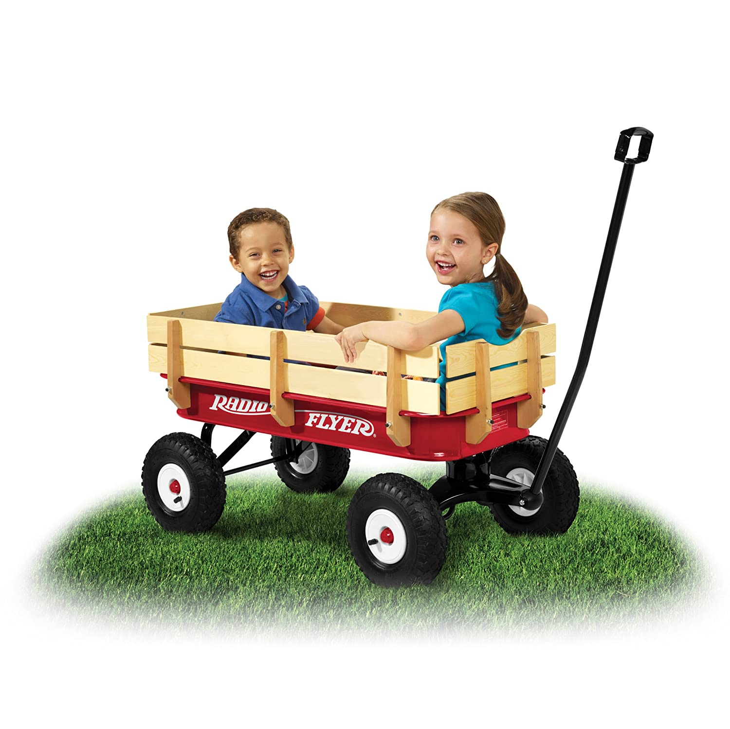 Amazon Radio Flyer Full Size All Terrain Steel & Wood Wagon