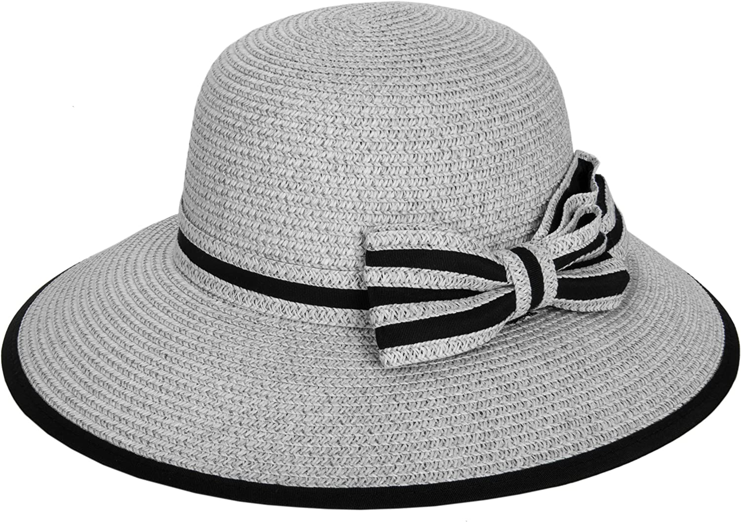 Aerusi Women/Æs Short Brim Straw Tribly Hat