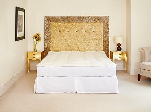 The Natural Bedding Company Pure Wool Mattress Topper (100% Platinum Certified British Wool) - Super King (Approx 4cm Depth): Amazon.es: Hogar