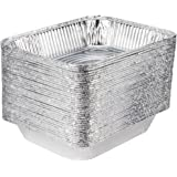 COMFY PACKAGE [HEAVY-DUTY] Aluminum Foil Steam Table Pans, Half Size Deep, 9x13 Pans (30 Pack)