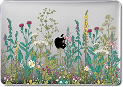 Glossy Floral Flower PC Hard Case Plastic Shell Cover For MacBook Air 13  2018