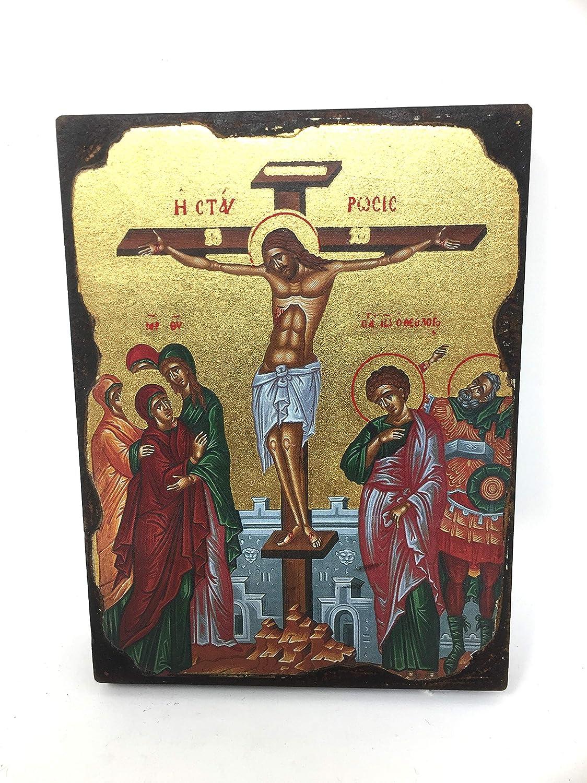 Osiris Trading UK Plaque Murale /à Suspendre Motif Crucifix J/ésus Christ