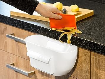 Küchenabfallbehälter Abfallbehälter Mülleimer Abfallsammler weiß NEU ...