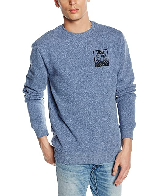 Vans CHECKED IN CREW - sudadera Hombre, azul (blueprint Heather), Large (
