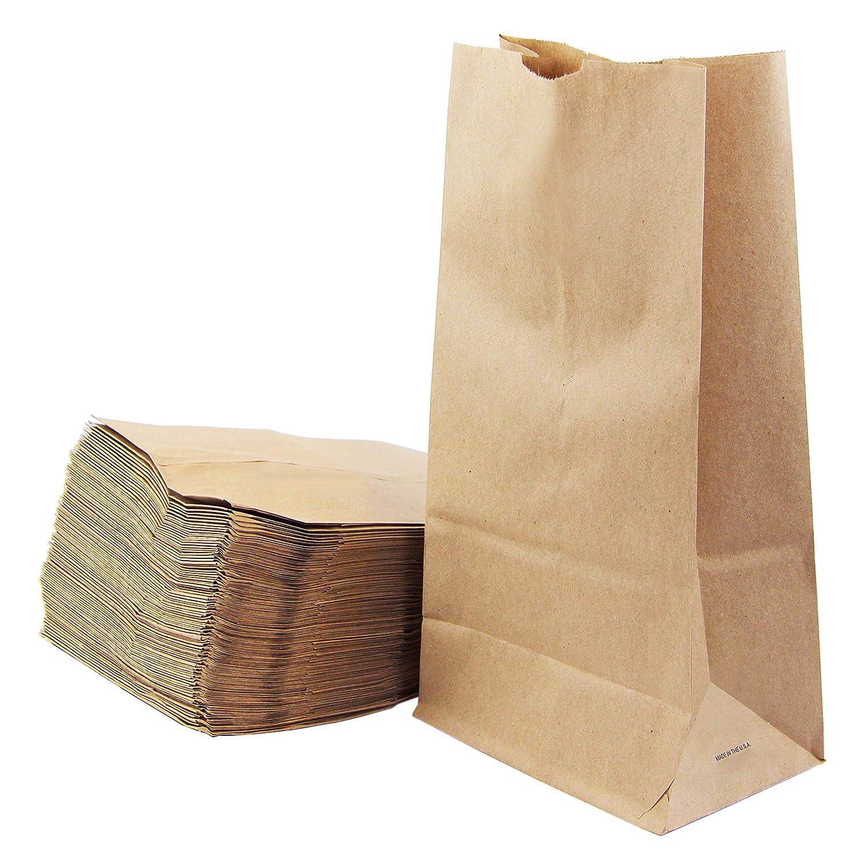 [200 Pack] Kraft Paper Bags 11 x 6 x 3.5